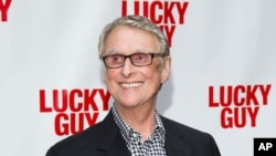 """FILE - Director Mike Nichols at the 2013 """"Lucky Guy"""" opening night in New York."""