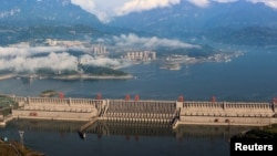 A general view shows the Three Gorges Dam on the Yangtze River in Yichang, Hubei province, China May 4, 2017.