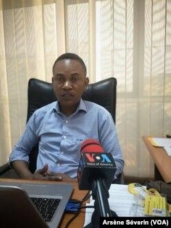 Patrick Itsoua, directeur Corpored Affairs de MTN Congo à Brazzaville, en République du Congo, le 22 juillet 2019. (VOA/Arsène Séverin)