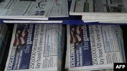 Báo chí đưa tin về vụ WikiLeaks phổ biến hơn 250.000 công điện mật gởi về Washington từ các đại sứ quán ở khắp nơi trên thế giới