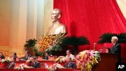 Tổng Bí thư đảng cộng sản Việt Nam Nguyễn Phú Trọng phát biểu tại lễ khai mạc Đại hội đảng 12 ở Hà Nội.