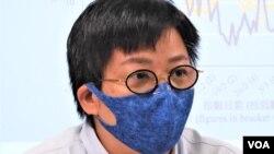 潘麒智表示,有一位任職教師的朋友,只因為與民主派立法會議員合照, 就被學生舉報需要接受調查。 (美國之音湯惠芸)