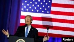 美国总统川普在印第安纳波利斯发表讲话 (2017年9月27日)