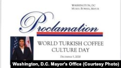 Washington Belediye Başkanı Bowser'in 'Dünya Türk Kahvesi Günü' ilanı