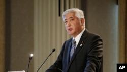 나카타니 겐 일본 방위상. (자료사진)