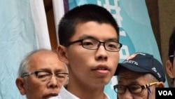 香港眾志秘書長黃之鋒 (美國之音湯惠芸拍攝)