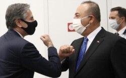 ABD Dışişleri Bakanı Antony Blinken ve Dışişleri Bakanı Mevlüt Çavuşoğlu