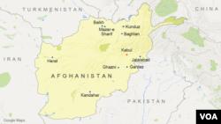 Peta wilayah Afghanistan.