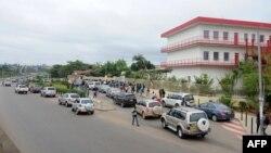 Le lycée Blaise Pascal de Libreville à la reprise des écoles après les vacances d'été le 16 septembre 2016.