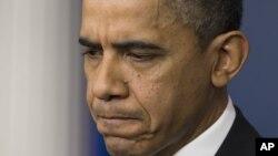 Predsednik Obama tokom konferencije za novinare u Beloj kući, 19. decembar 2012.