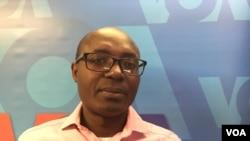 Rafael Marques, activista angolano e jornalista de investigação, nos estúdios da VOA em Washington DC