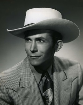 Country music artist Hank Williams in an undated photo released by the Country Music Hall of Fame.