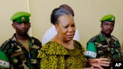 Catherine Samba-Panza, la présidente centrafricaine.