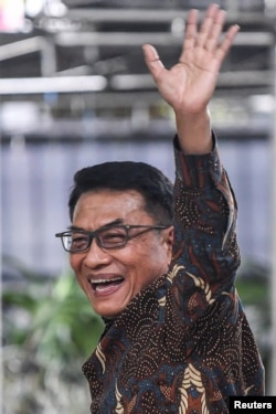 Kepala Staf Kepresidenan Republik Indonesia, Moeldoko usai konferensi pers di Jakarta, 3 Februari 2021 (Foto: Antara/Reuters)