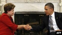 Дилмa Руссефф и Барак Обама