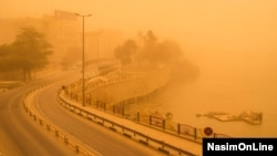 عکسی از یکی از روزهای پر از گرد و غبار و آلودگی هوا در اهواز
