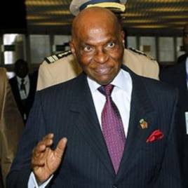 Senegal President Abdoulaye Wade (file photo)