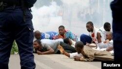 Bamwe mu bakatolika bo muri Kongo bari mu myiyerekao yo gusaba Kabila ngo Akinjure