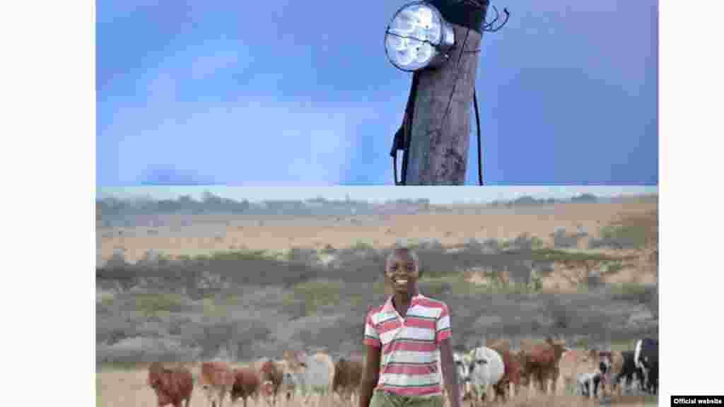 Luzes de Leão de Richard Turere. O rapaz de 13 anos criou uma lâmpada LED que afasta os leões do gado
