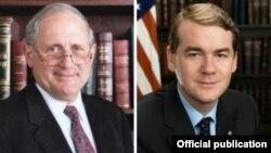 ԱՄՆ-ի Սենատի զինված ուժերի հարցերով հանձնաժողովի նախագահ, Միչիգան նահանգից ընտրված սենատոր Կարլ Լևին (ձախից) ու Կոլորադո նահանգից ընտրված սենատոր Մայքլ Բենեթը (աջից)