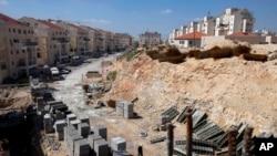 Permukiman Yahudi 'Modiin Illit' dibangun di kawasan Tepi Barat, Palestina yang diduduki Israel (foto: ilustrasi).