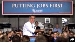 El candidato republicano Mitt Romney habla durante un mitín en Forth Worth, Texas.