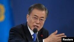 Tổng thống Hàn Quốc Moon Jae-in ở thế khó sau khi đàm phán Mỹ-Triều thất bại