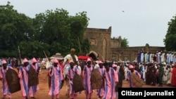 Bikin gaida Lamidon Adamawa a fadarsa
