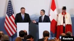 وزرای خارجه سوئیس و آمریکا در کنفرانس خبری