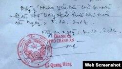 Phó Chánh án Tòa án Nhân dân tỉnh Long An, Ông Lê Quang Hùng, ký lệnh hoãn tử hình đối với anh Hồ Duy Hải, ngay trước ngày bản án được thi hành