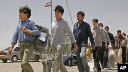مهاجرت نړیواله اداره وایي روان ۲۰۱۹ کال کې تراوسه ایران یو سل او لس زرو څخه زیات افغان کډوال افغانستان ته شړلي دي.