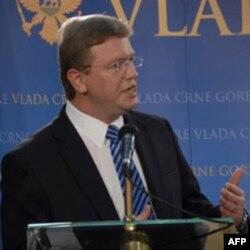 File na konferenciji za novinare u Podgorici