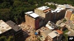 Vista aérea da Muzema, Rio de Janeiro, 12 de Abril