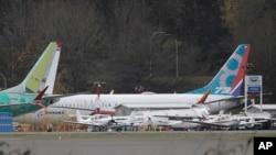 Nov. 14, 2018 - Un Boeing 737-MAX 8 estacionado cerca de la instalación de ensamblaje, en Renton, estado de Washington.