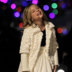 Jackie Evancho sang at the National Christmas Tree lighting ceremony with President Barack Obama and his family in Washington