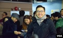 香港公民黨黨魁楊岳橋。(美國之音湯惠芸攝)