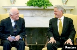 1999年9月23日美国总统克林顿会见格鲁吉亚总统谢瓦尔德纳泽