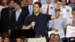 Kandidat wakil presiden dari Partai Republik Paul Ryan dalam kampanye di North Carolina. (Foto: AP)