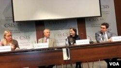 Hội thảo về ảnh hưởng của chù nghĩa cộng sản đối với kinh tế, xã hội và môi trường tại Trung tâm Nghiên cứu Chiến lược và Quốc tế CSIS Washington DC, ngày 23/2/2018