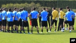 Para pemain Inter Milan saat berlatih di Appiano Gentile, Italia (foto: dok). Pengusaha Indonesia Erick Thohir akan segera menjadi pemilik mayoritas di klub ini.