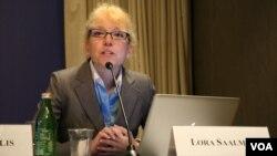 卡内基和平研究院清华-卡内基全球政策中心研究员司乐如。(美国之音钟辰芳拍摄)