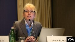 卡內基和平研究院清華-卡內基全球政策中心研究員司樂如。 (美國之音鍾辰芳拍攝)