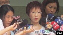 台灣立法院副院長洪秀柱接受媒體採訪資料照 (美國之音張永泰)