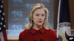 기자회견을 갖는 힐러리 클린턴 미 국무장관 (자료사진)
