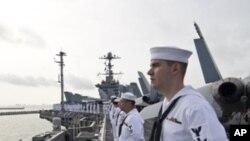 امریکہ، جنوبی کوریا کی مشترکہ بحری مشقوں کے التوا کی تردید