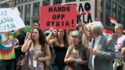 Anti-War Activists Protest Against US Strike on Syria