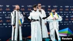 Українські виконавці - група Go_A на церемонії відкриття конкурсу Євробачення у Роттердамі в Нідерландах 16 травня 2021 р.