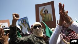 Сторонники Муаммара Каддафи