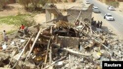 지난달 4일 예멘 동부 하드라무트에서 미군의 무인기 공격으로 파괴된 주택. 테러 용의자 4명이 사망했다. (자료 사진)