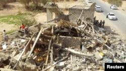 El 4 de septiembre, seis islamitas sospechosos murieron en esta casa con el ataque de un dron estadounidense en Hadramout, Yemen.